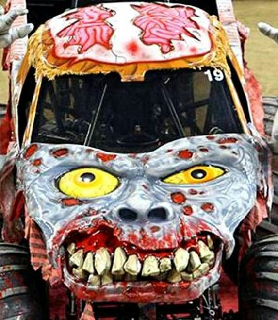 Zombie With Images Zombie Vehicle Art Cars Monster Truck Birthday