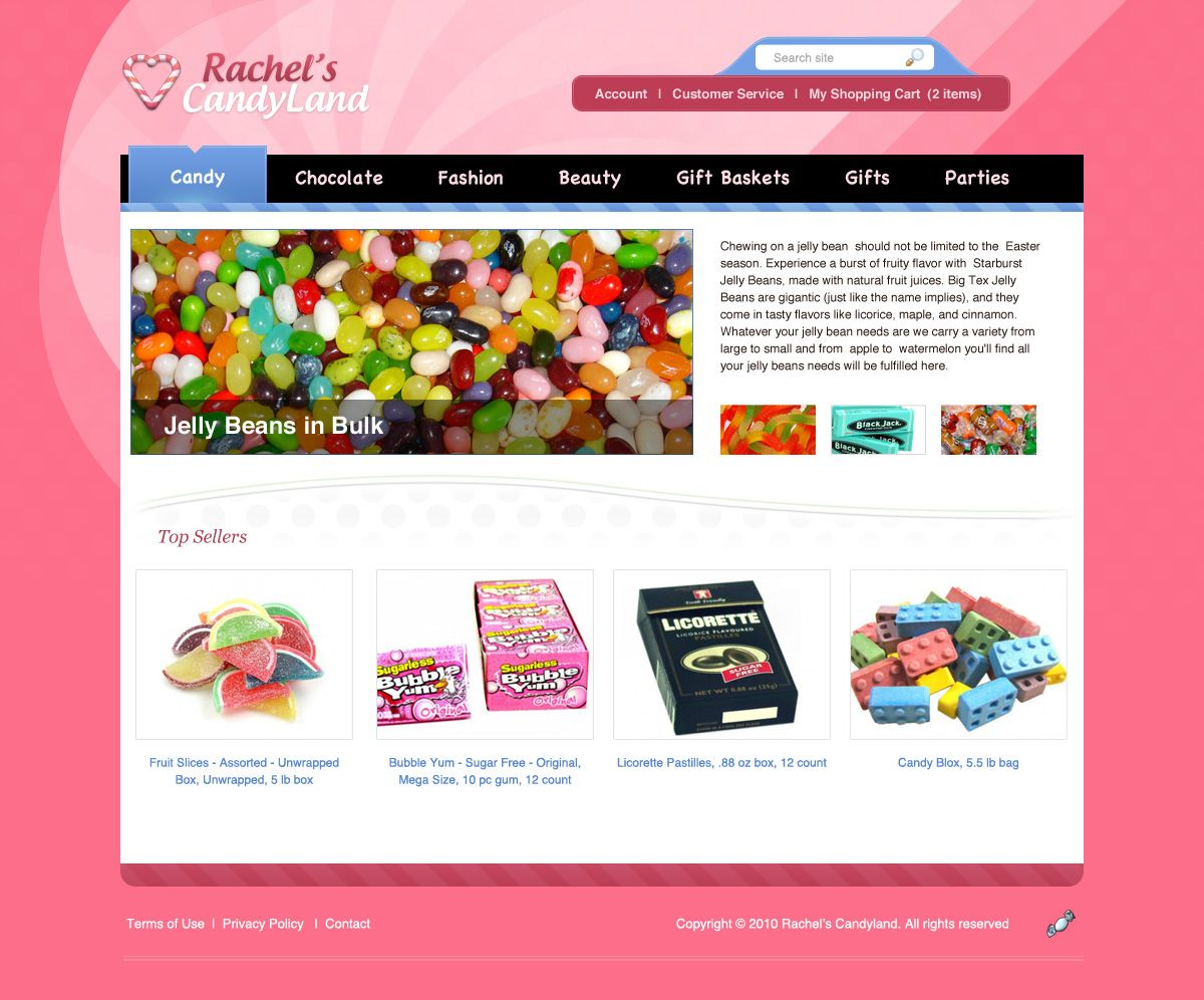 Colorful Candy Store Website Layout in Photoshop | Free PSD ...