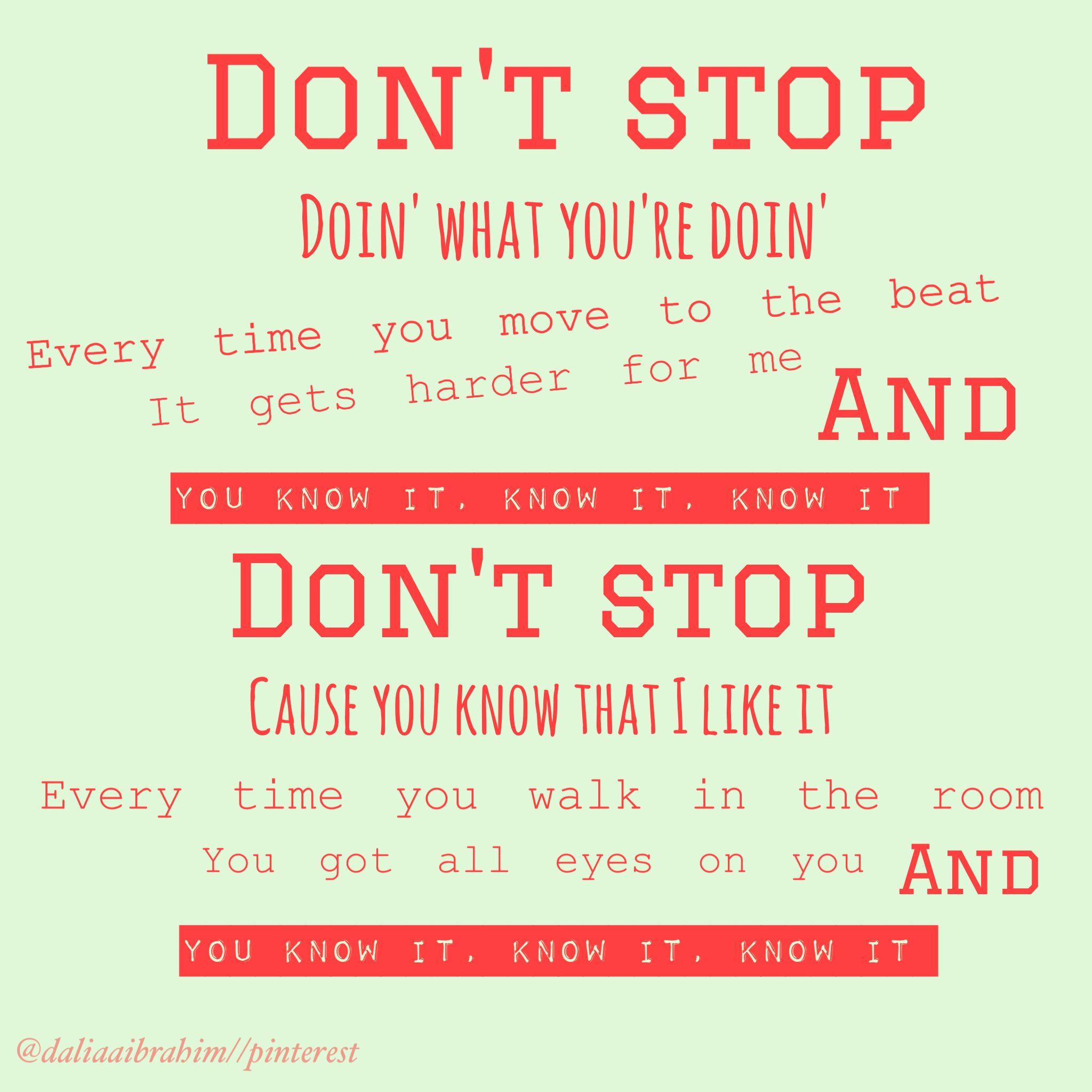 Don't Stop- 5SOS @daliaaibrahim | Cool lyrics, 5sos lyrics ...