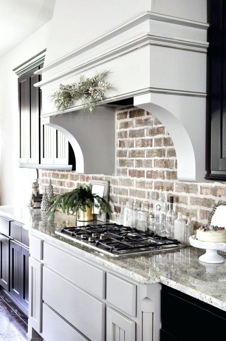 backsplash brick tile kitchen brick look rustic ideas