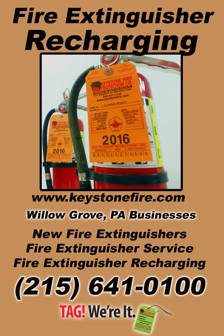 Fire Extinguisher Recharging Willow Grove, PA (215) 641