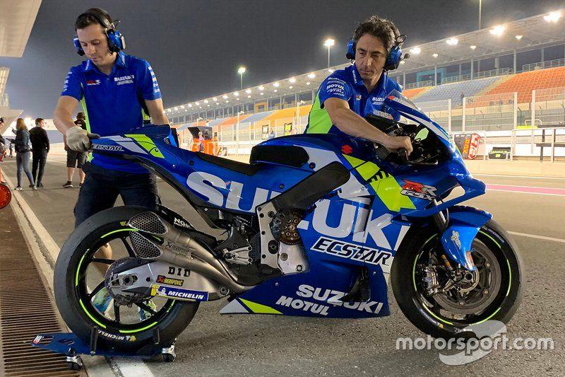 Exhaust Detail On The Suzuki Motogp Bike