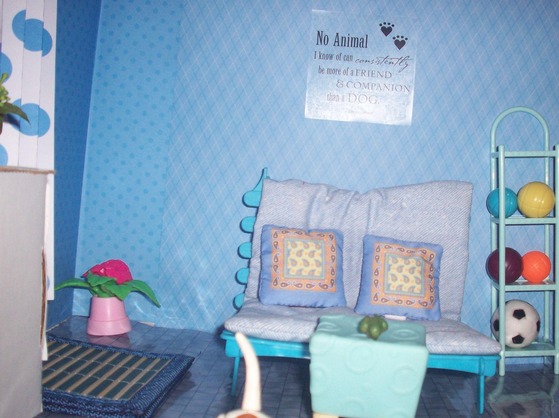 1:6 OOAK dollhouse yoga/meditation/exercise/ play room
