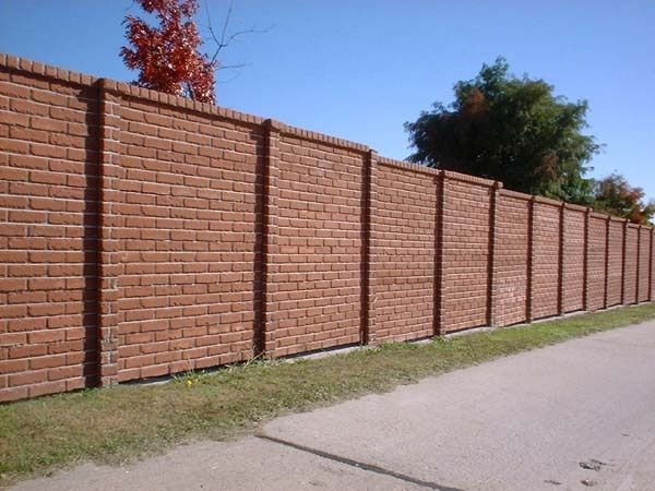 brick fence going to price how much something like this would cost to go between our