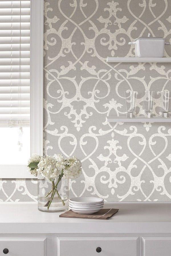 Wallpops Ironwork Grey Peel Stick Wallpaper Peel And Stick Wallpaper Nuwallpaper Self Adhesive Wallpaper