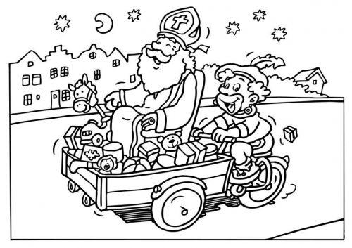 Kleurplaat Sint en Piet #sintenpiet