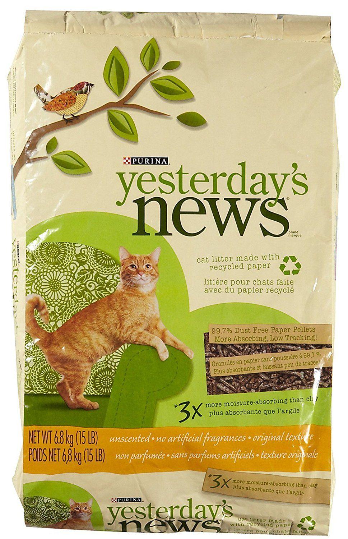 Yesterday's News Original Cat Litter Unscented 15 lb