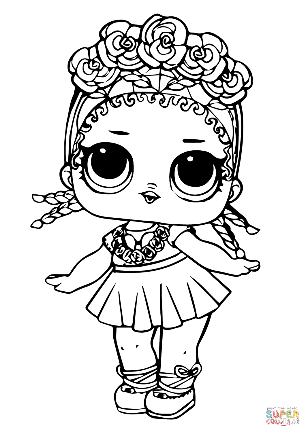 Lol Doll Coconut Q T Super Coloring Unicorn Coloring Pages Cartoon Coloring Pages Cute Coloring Pages