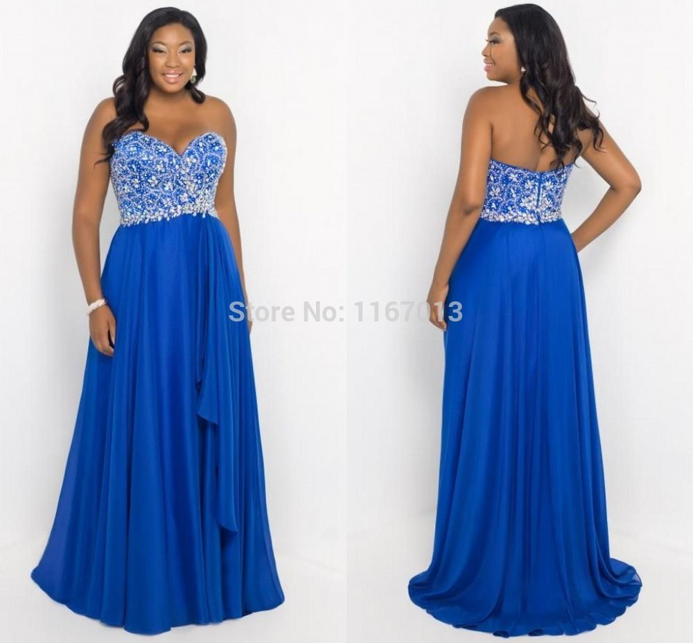 Royal blue plus size formal dress | Color dress | Pinterest ...