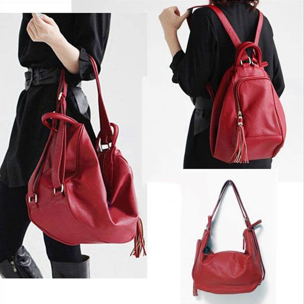 PU Leather Backpack Handbag Shoulde