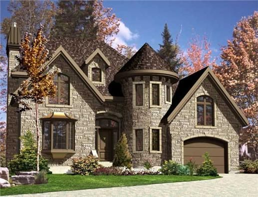 European Home Plans Stone House Plans Castle House Plans Turret House Plans