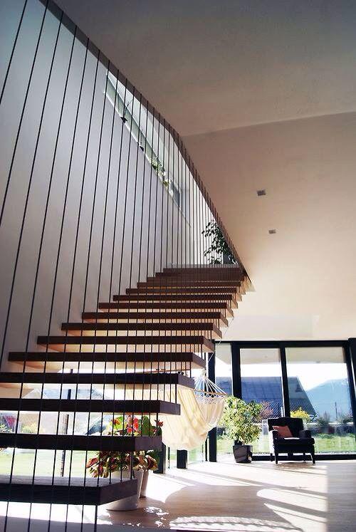 barandillas interiores escaleras flotantes escalera moderna interior diseo de interiores casas modernas escaleras