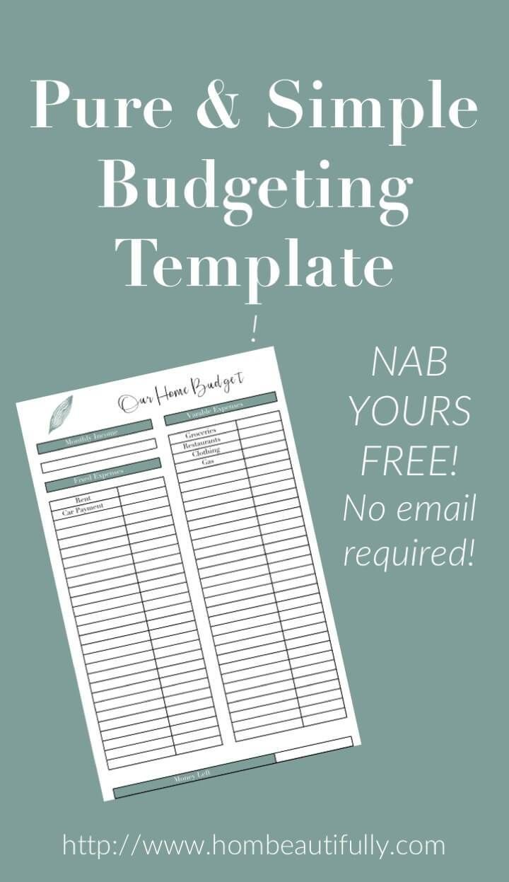 grab this free excel budget template to set up a household budget with these money tips