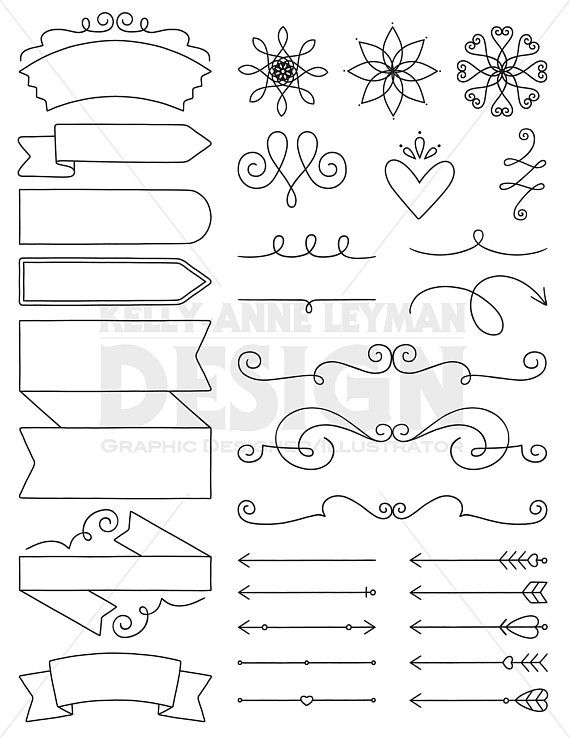 Doodle diy invitation clipart design elements digital labels doodle diy invitation clipart design elements digital labels clipart digital clip art commercial use digital download vector graphics etsy stopboris Image collections