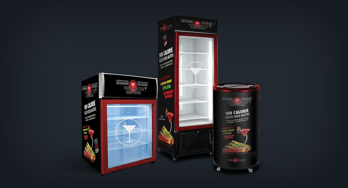 Just Some In Store Freezer Designs For The Vodka Martini Skinny