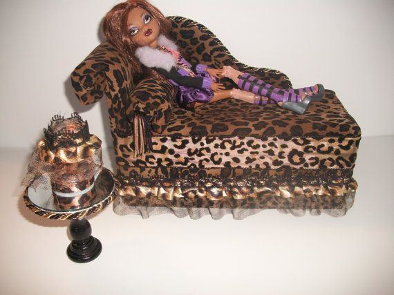 Furniture for Monster High Dolls Handmade Chaise Lounge Bed for