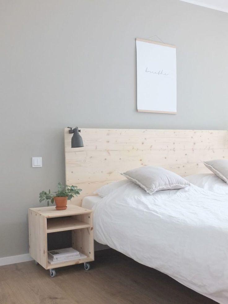 Ikea Hack Eine Neue Ruckwand Fur Das Malm Bett Mit Ganz Viel Naturlichkeit Diy Mobel Schlafzimmer Malm Bett Ikea Malm Bett