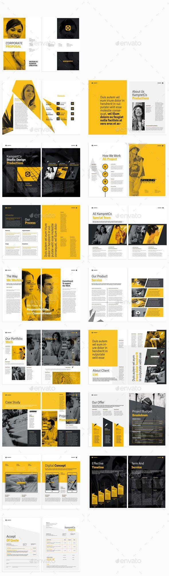 Proposal Template InDesign INDD #design Download: http ...