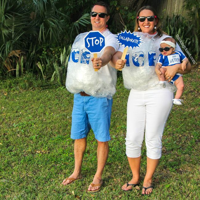 Ice Ice Baby  Punny Halloween Costume for a Family of 3! The step by step DIY tutorial for how we created our creative punny Halloween costumes...plus ...  sc 1 st  Pinterest & Ice Ice Baby