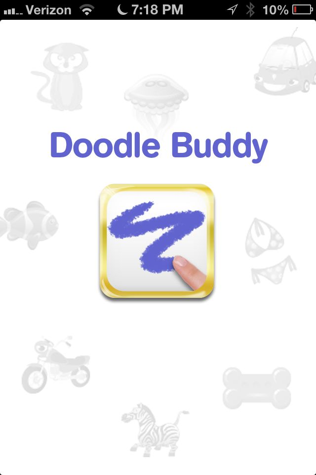 Download Doodle buddy, find a rainbow wallpaper online, add as ...