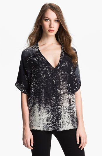 Vince Print Silk Top available at #Nordstrom.