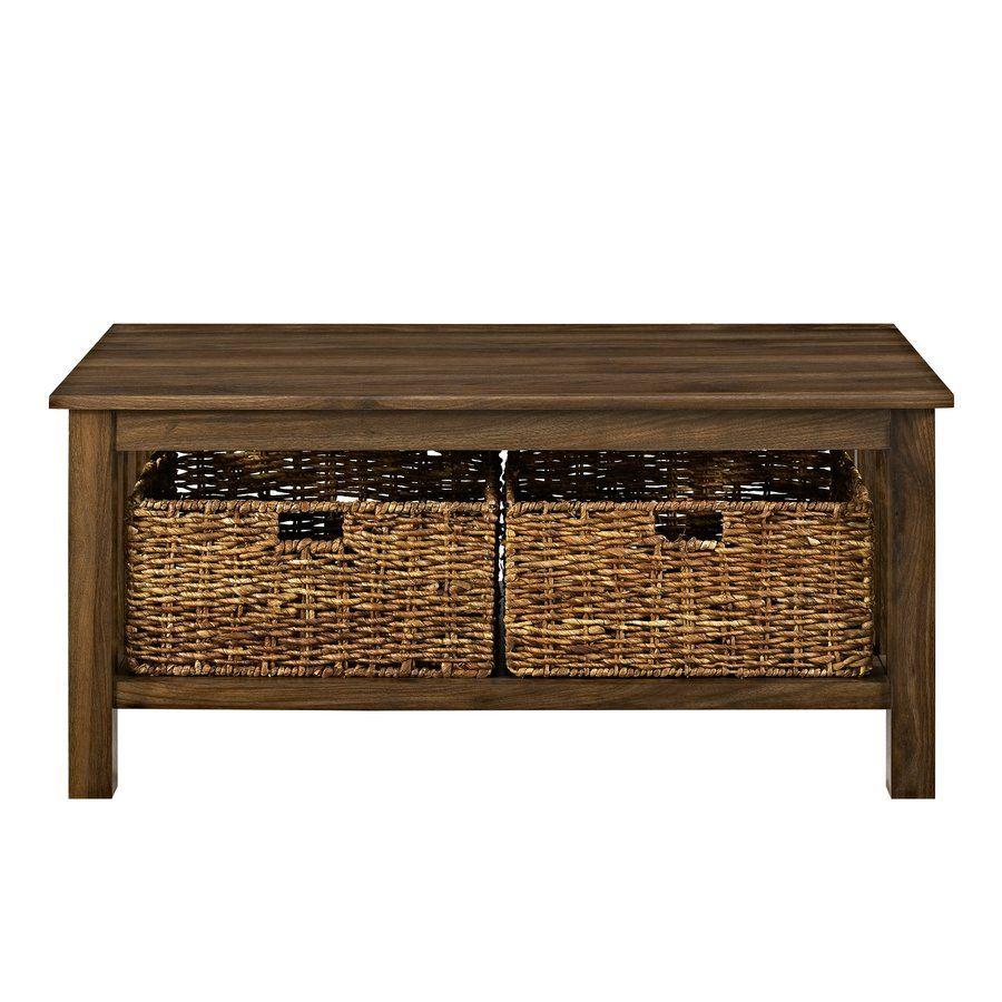 Denning Storage Coffee Table Wood Coffee Table Rustic Coffee