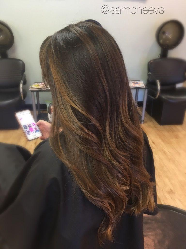 Wedding hair bride hair bridesmaid hair color dark to light brown