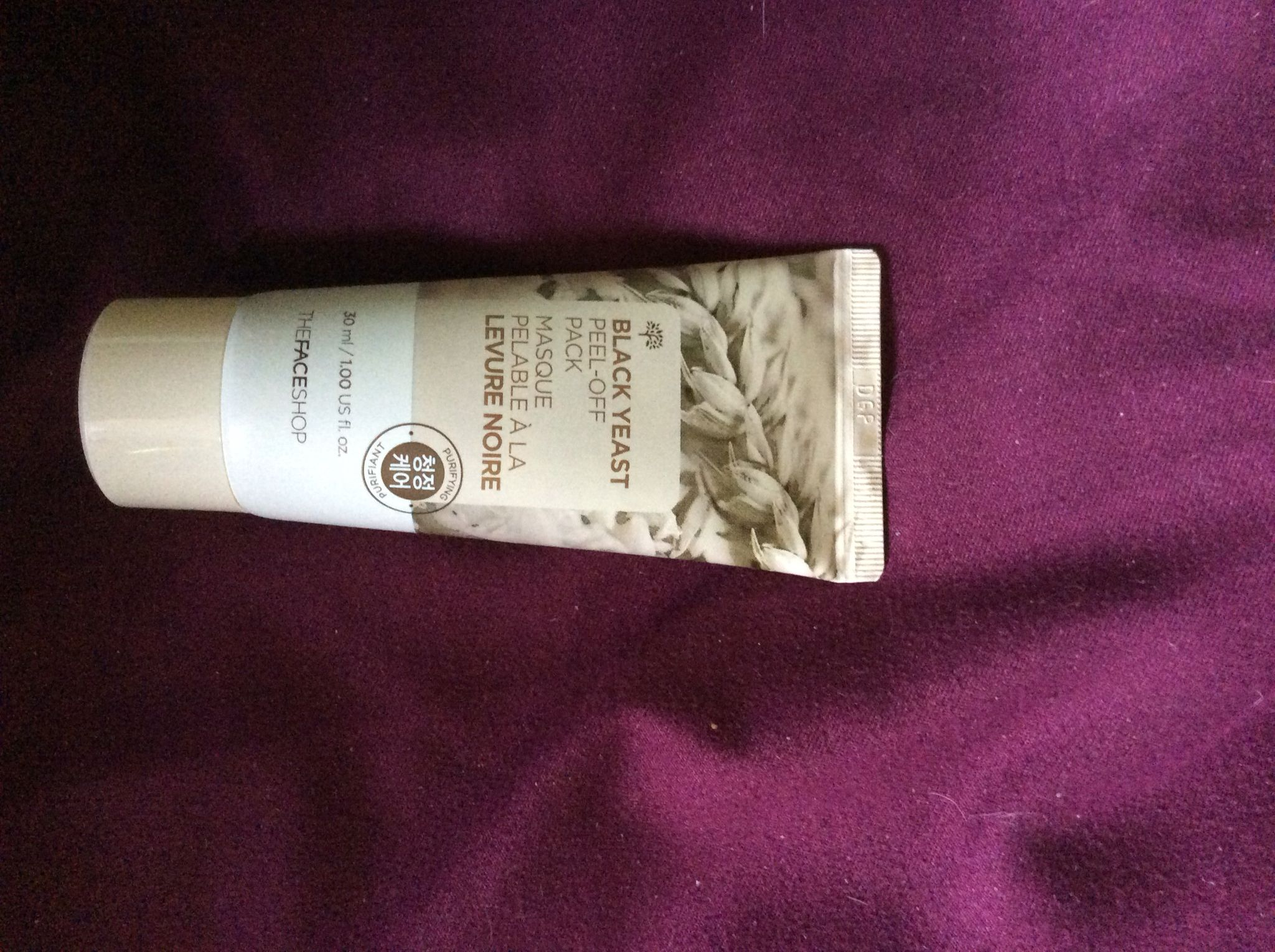 The face shop || black yeast peel off mask|| 100ml Asking $4.00