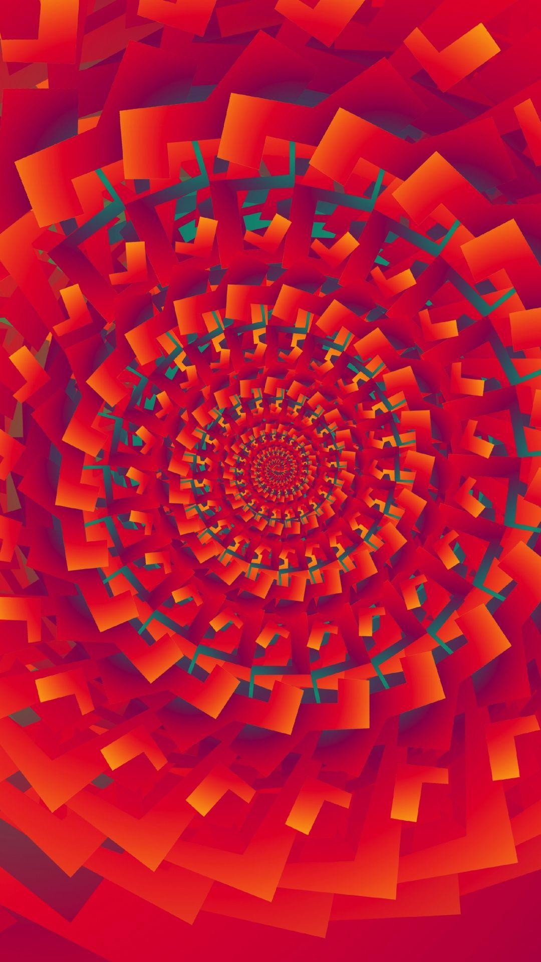 Download 1080x1920 Wallpaper Fractals  Spiral  Orange