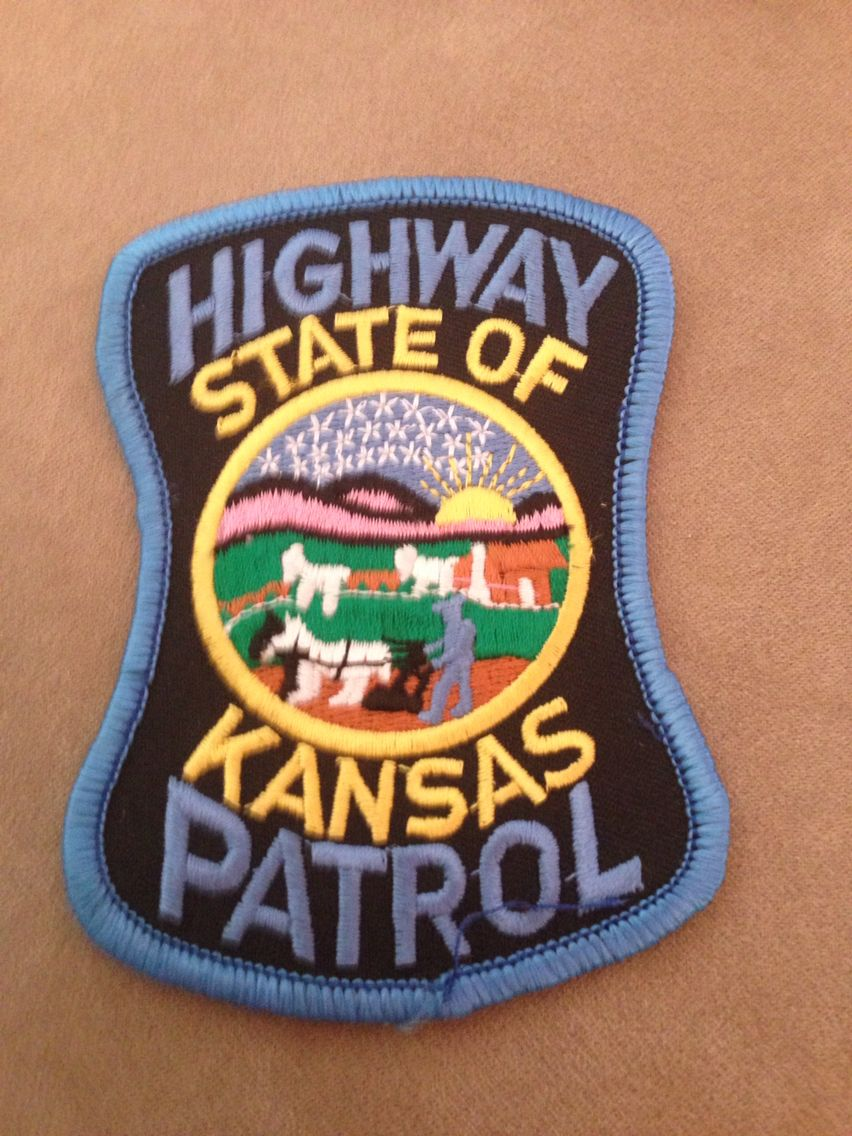 Kansas Highway Patrol Police badge, Police patches