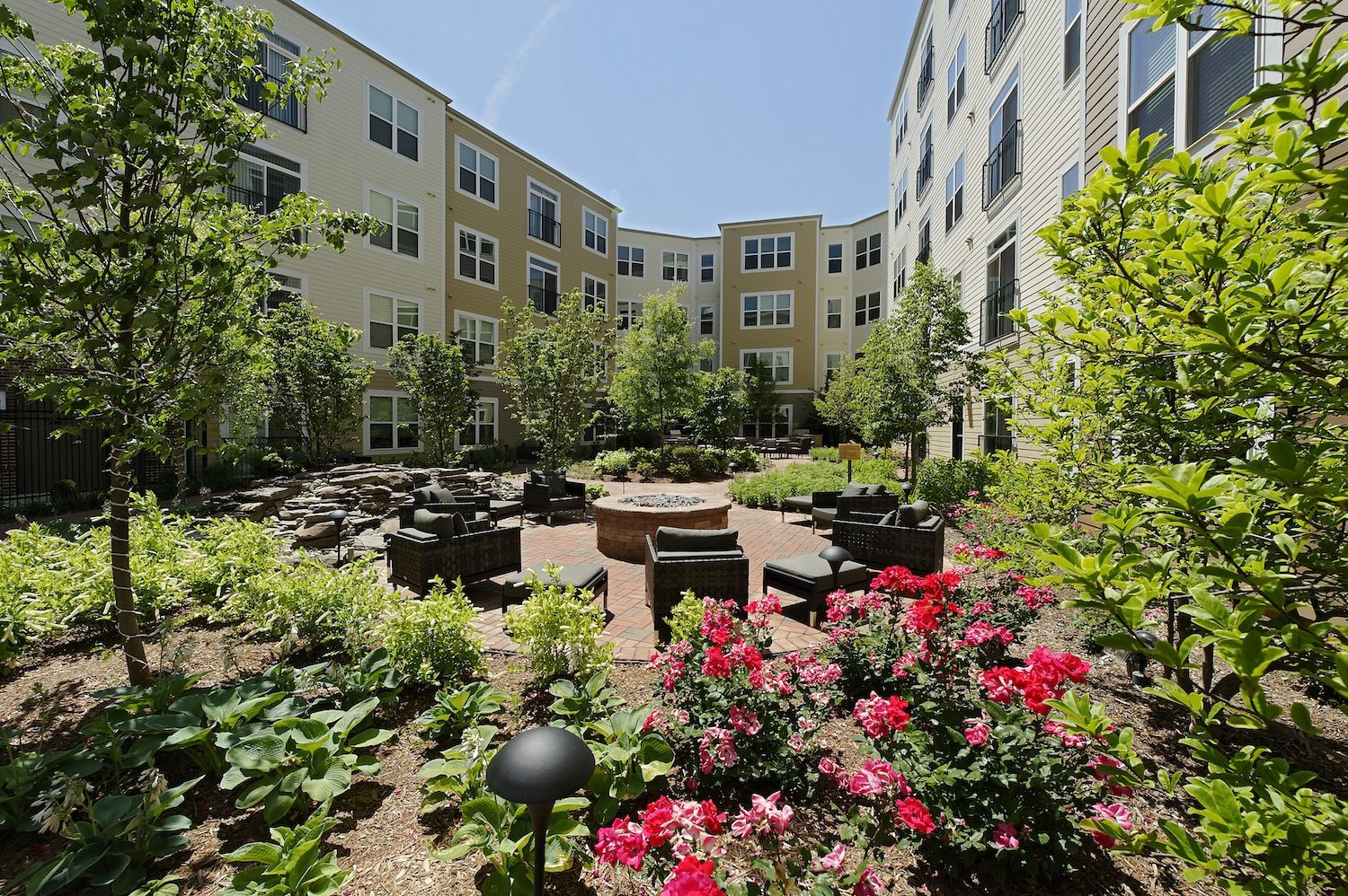 Flowers blooming in our courtyard. Exterior, Luxurious