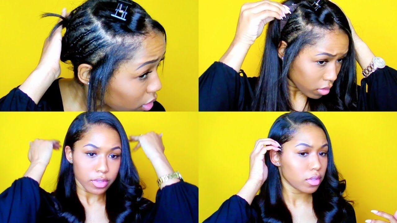 2 Minute U Part Wig Install No Sewing Youtube U Part Wig U Part Wigs U Part