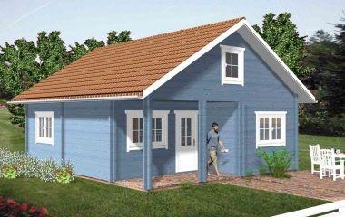 Blockhaus Ferienhaus Holz günstig selber bauen Bausatz