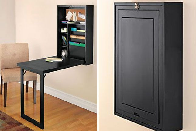 space saver 22 wall mounted desks to buy or diy via brit. Black Bedroom Furniture Sets. Home Design Ideas