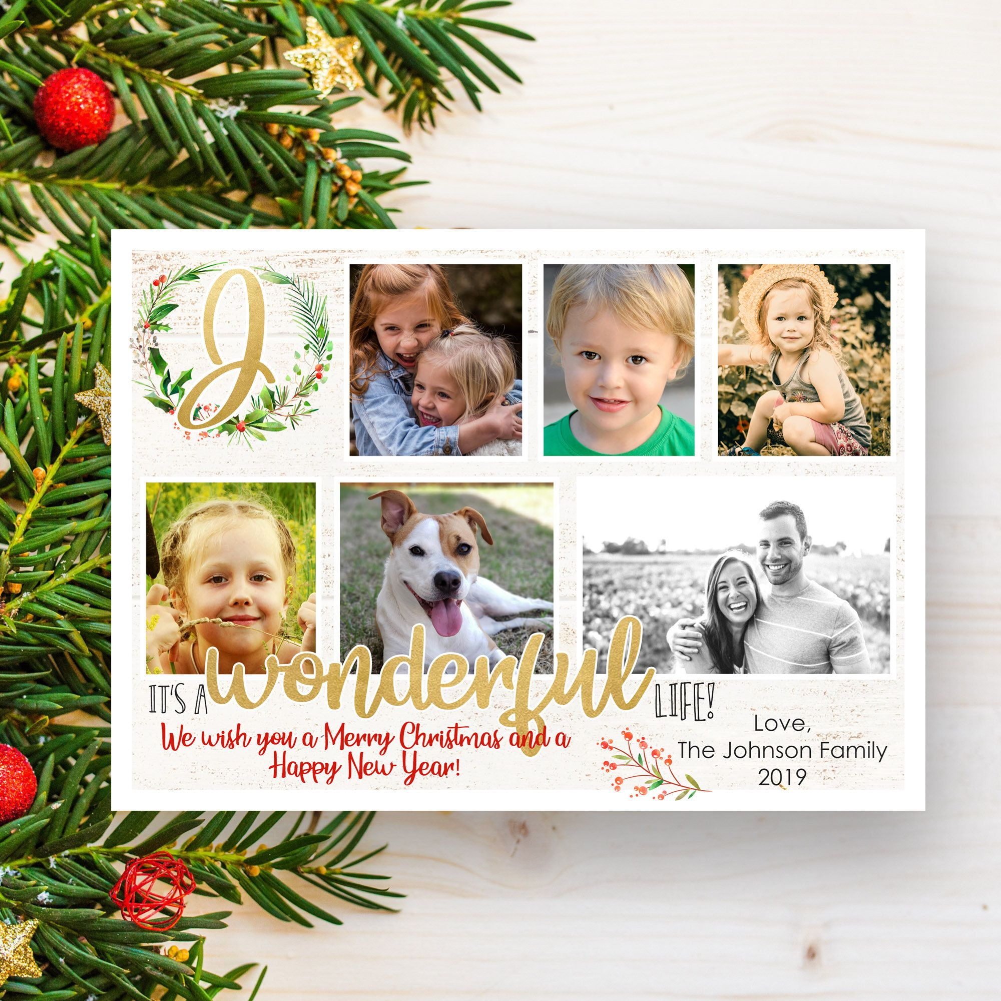 Christmas Photo Card Template Family Photo Cards Happy Holiday Cards Printable C Happy Holiday Cards Christmas Photo Card Template Christmas Photo Cards