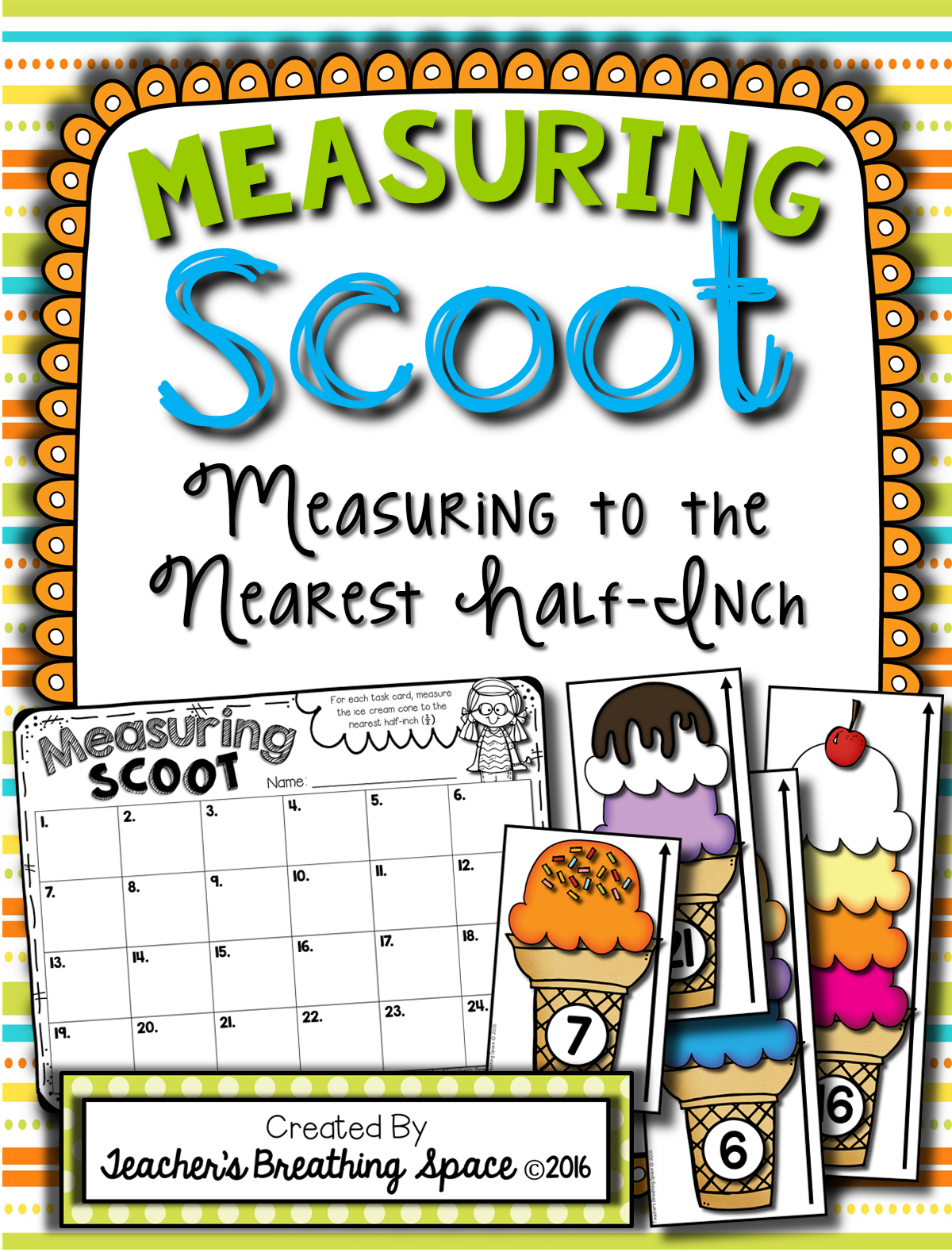 Summer Measuring Scoot Standard Measurement To The