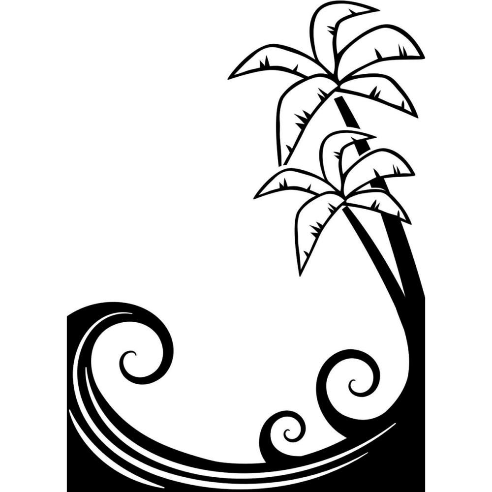 1218 119 Darice A2 Embossing Folder Palm Trees Embossing