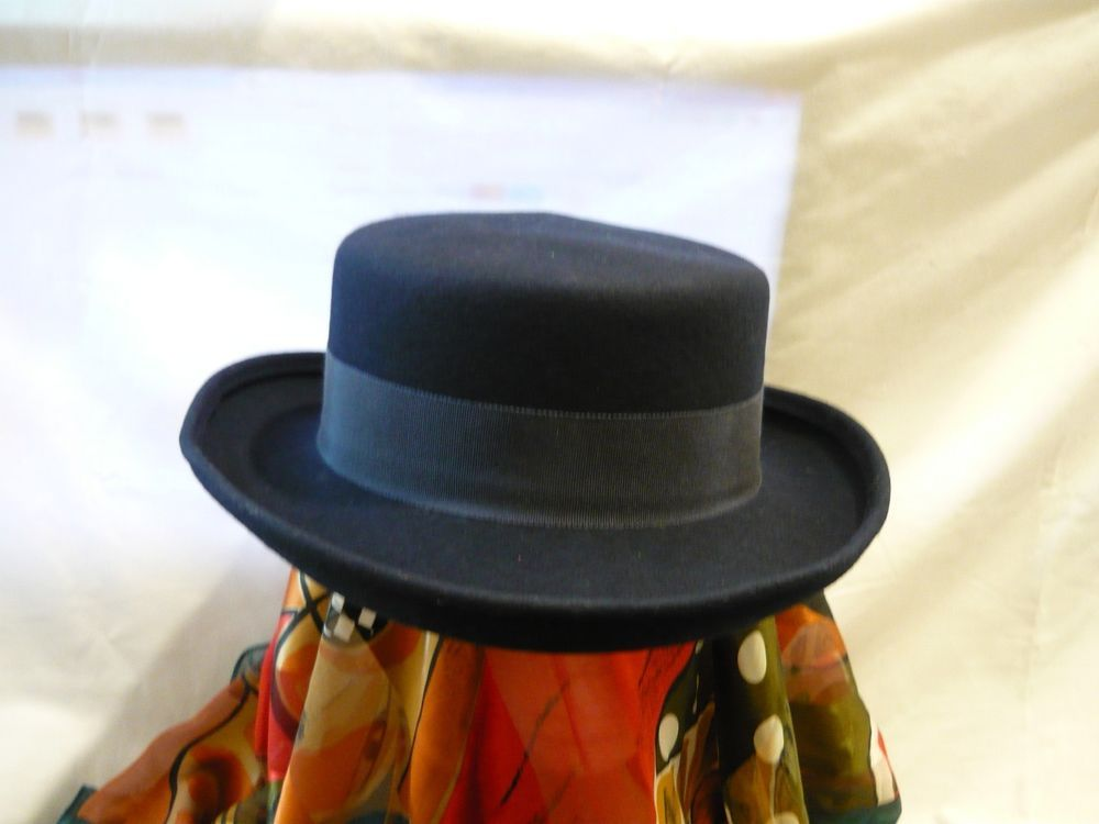 Navy Blue Doeskin Felt Hat w  Band by Bollman Hat Co Made USA 100% Wool-  Inatoo  fashion  clothing  shoes  accessories  womensaccessories  hats  ad  (ebay ... 963b09afea9