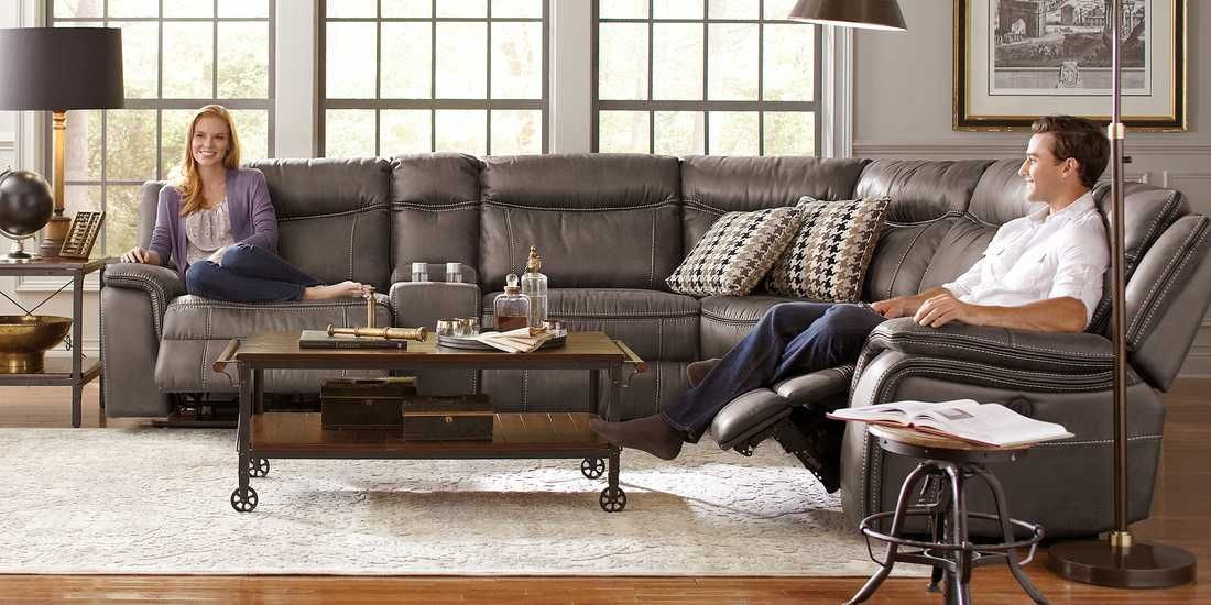 Cindy Crawford Home Barton Springs Gray 6 Pc Sectional Rooms To
