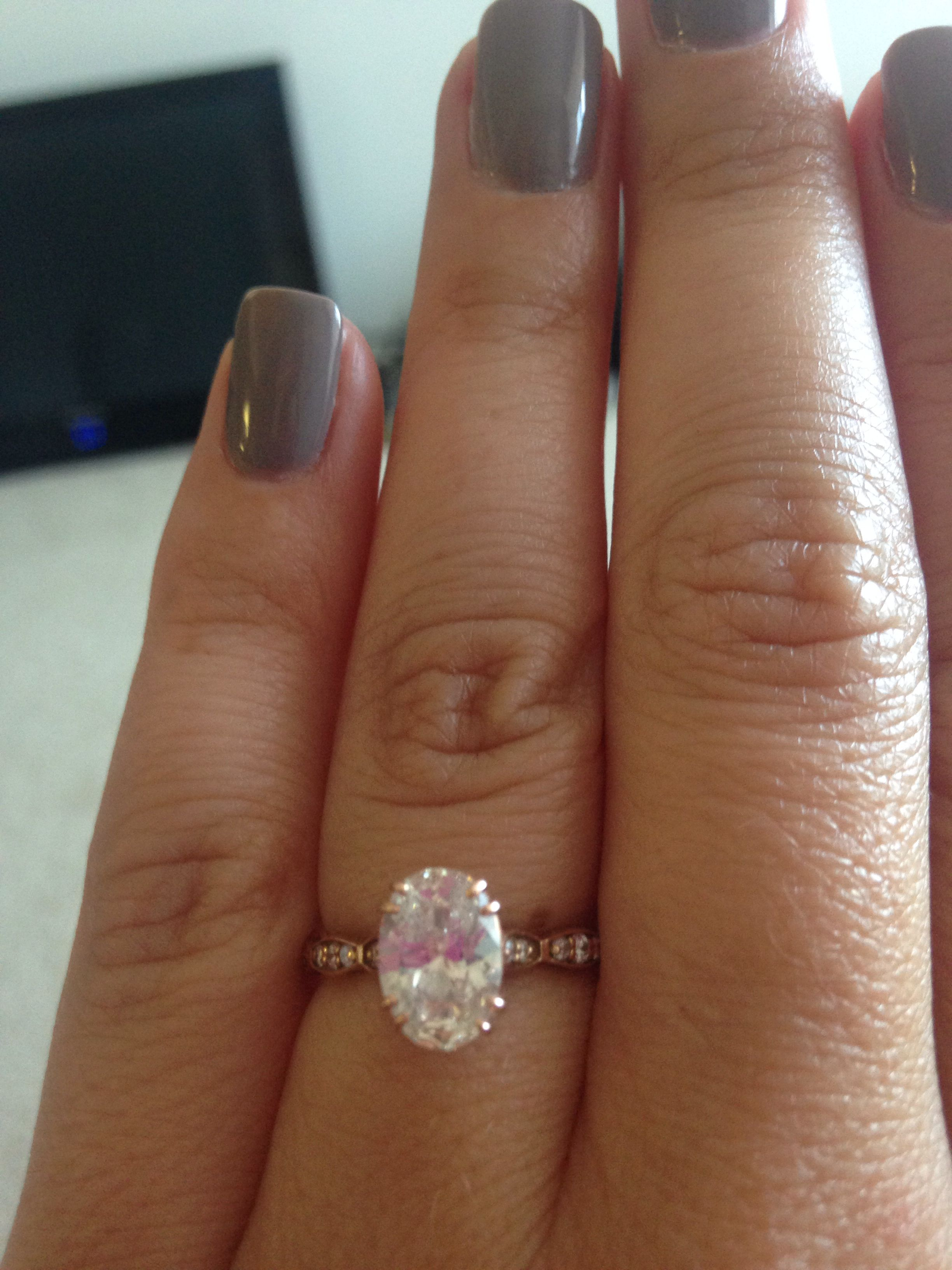 Tacori Rose Gold Oval Engagement Ring