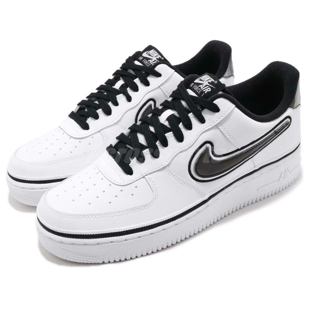 5dc20677 Nike Air Force 1 07 LV8 спорт AF1 NBA шпоры черный белый мужские туфли  AJ7748-