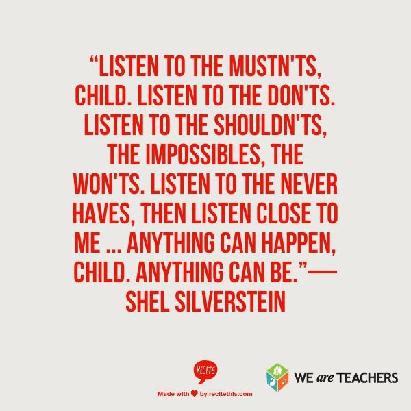 Shel Silverstein Graduation Quotes: Anything Can Happen, Anything Will Be