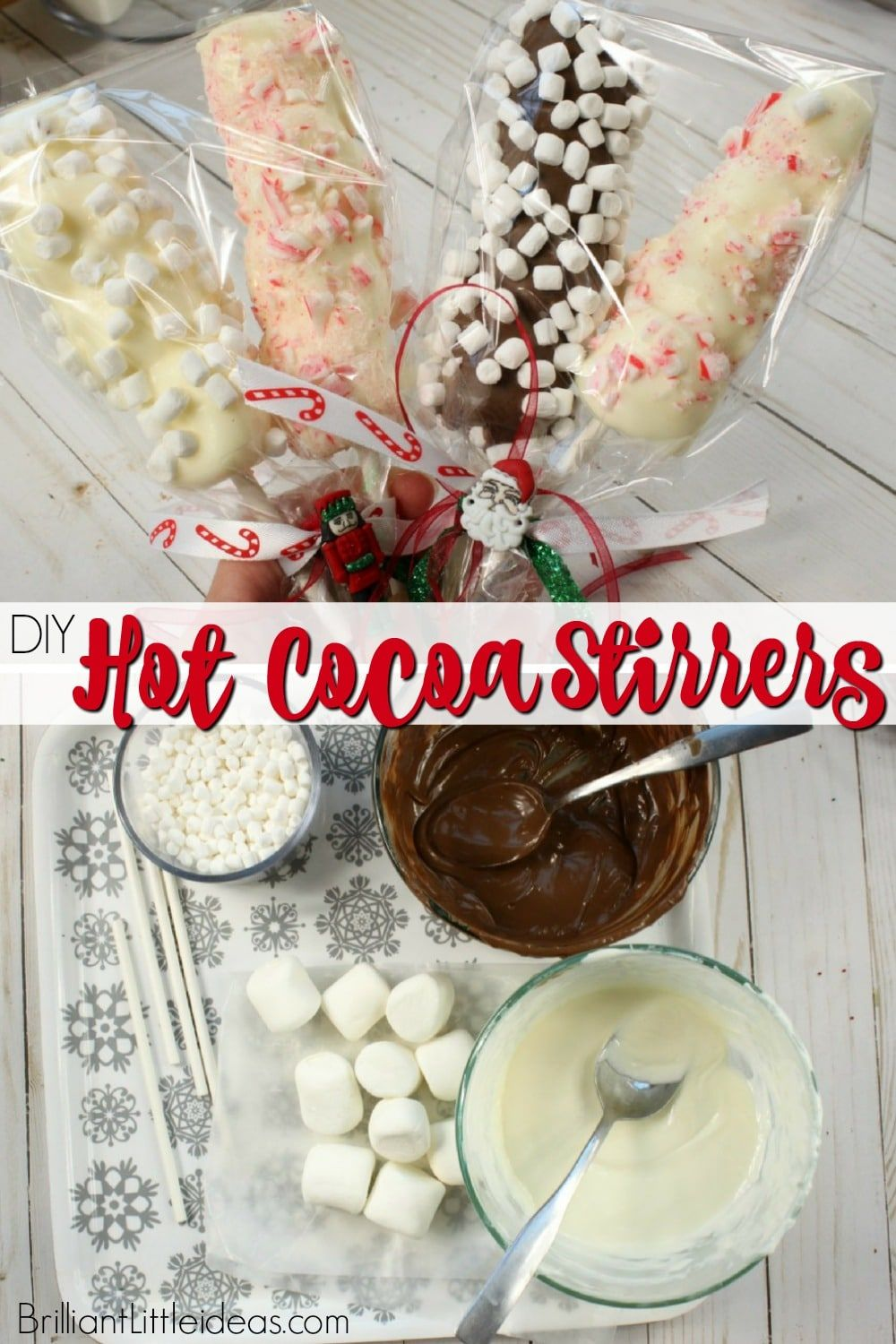 Hot Cocoa Stirrers Hot chocolate mix, Christmas