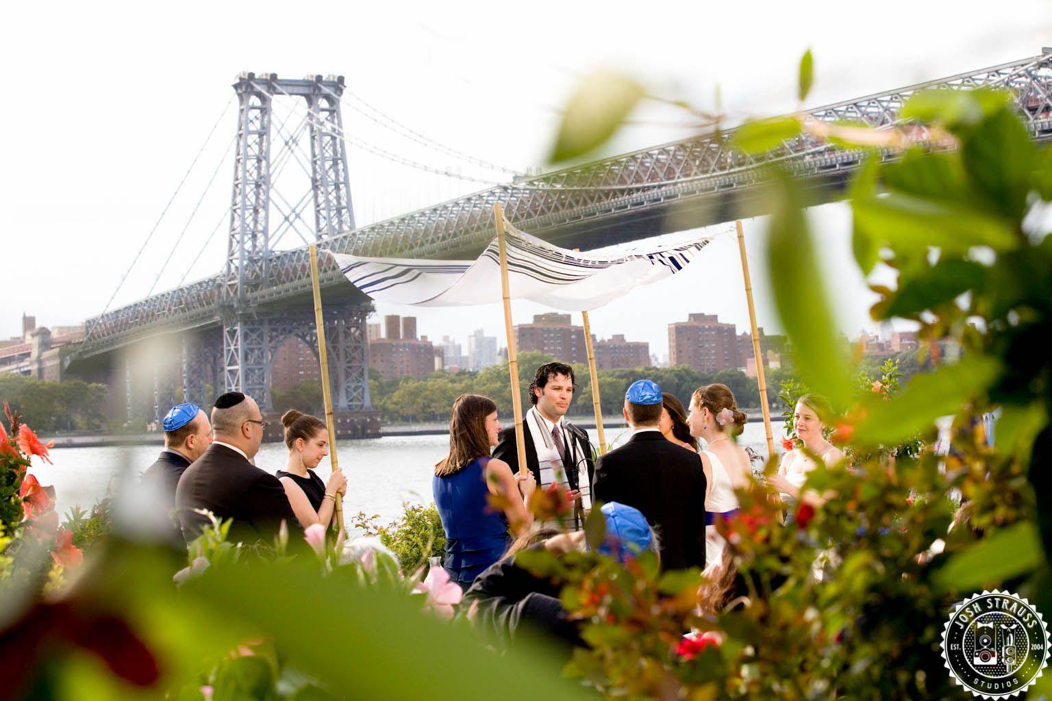 Ceremony outside of Giando on The Water, Brooklyn, NY