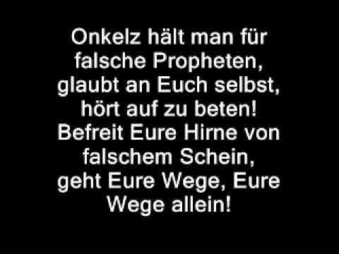 Böhse Onkelz- Falsche Propheten - YouTube | Onkelz, Falsch