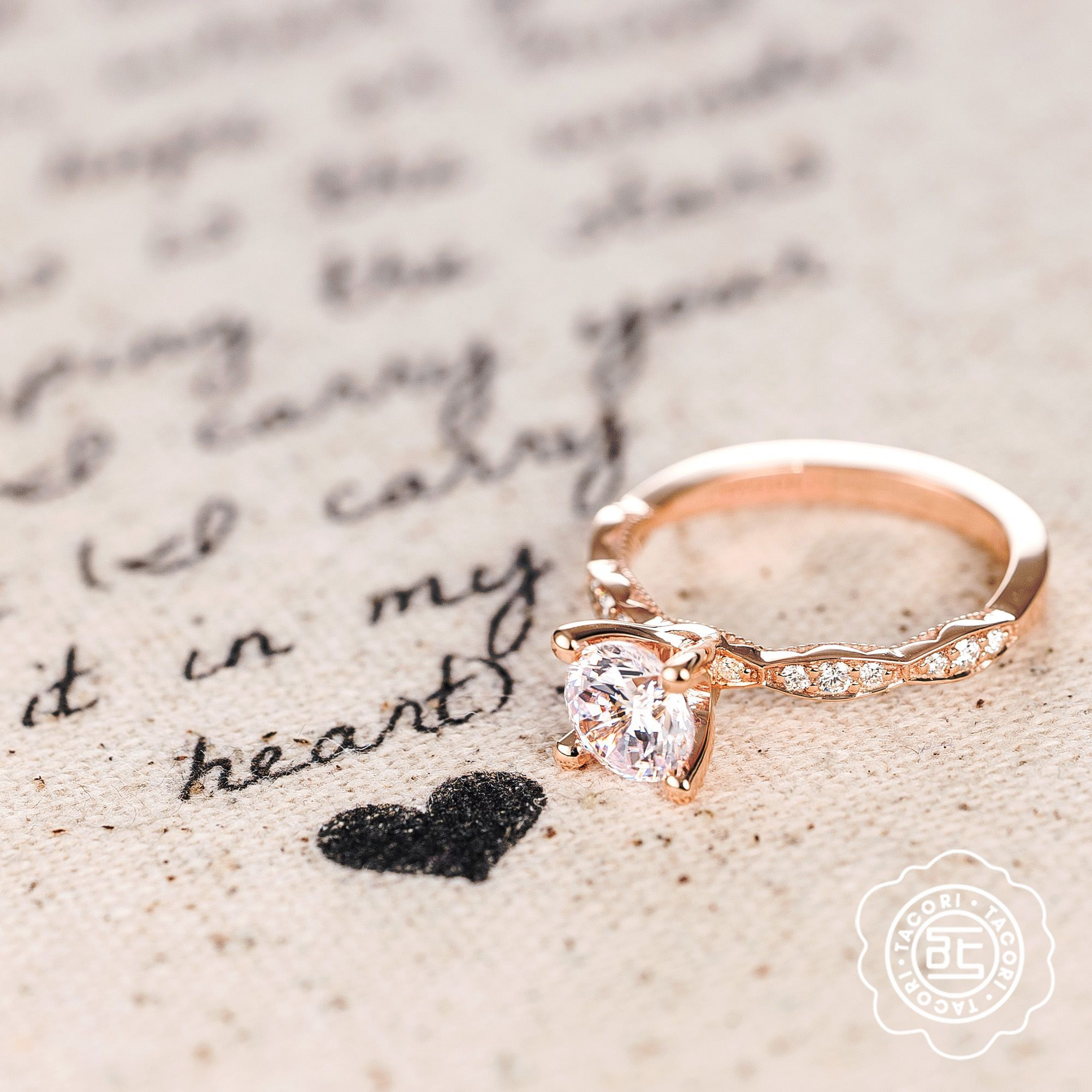 My heart is yours 💕 Explore Tacori Engagement Rings Wedding