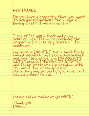Yellow Letter Short Sale Let S Buy Some Houses Www