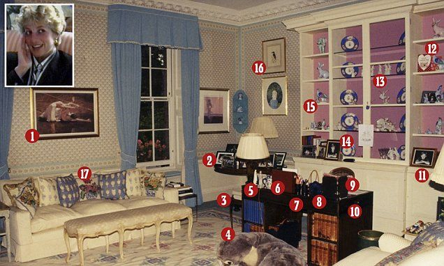 Inside Diana S Kensington Palace Apartment Daily Mail Online