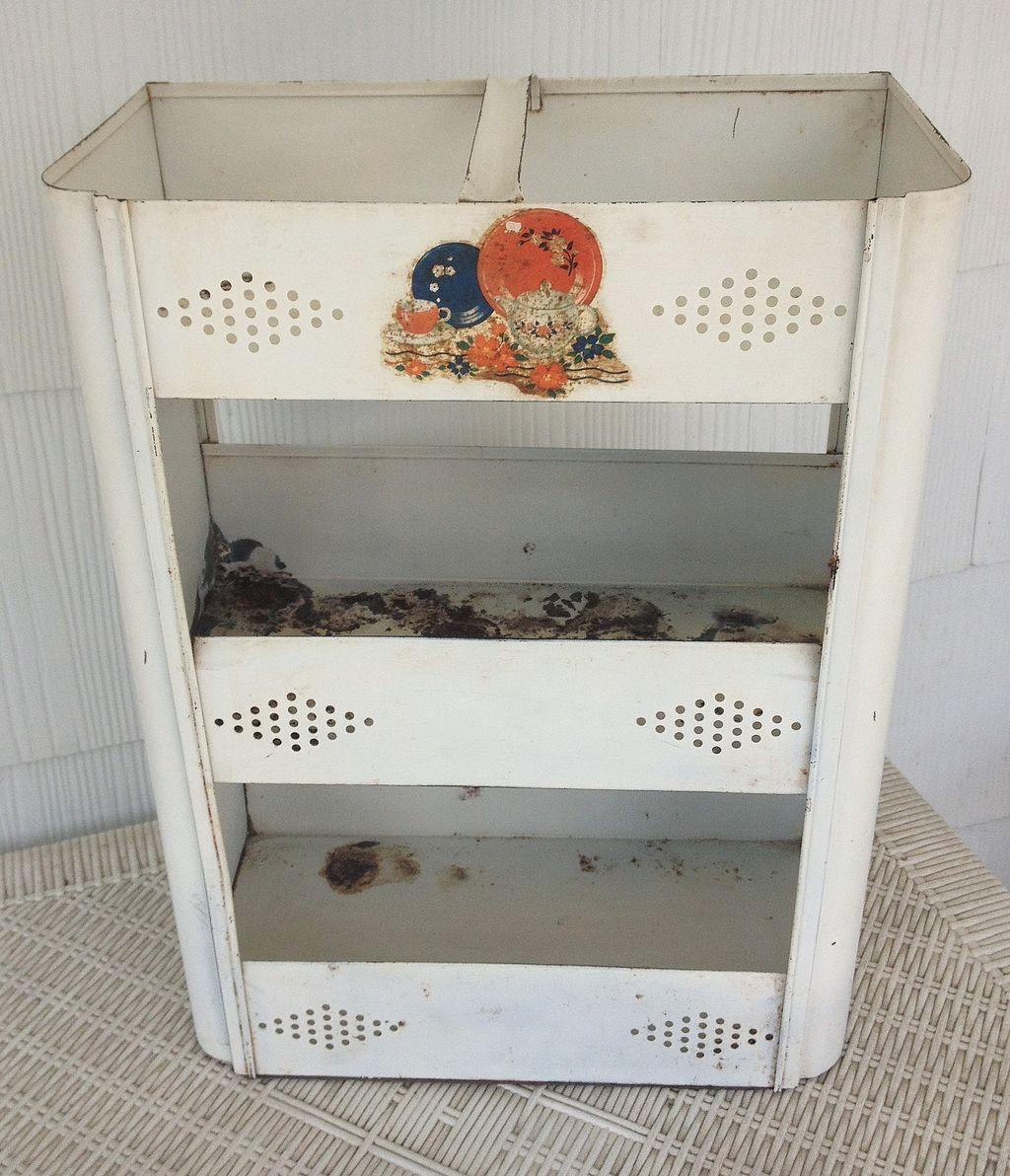 Vintage Metal Kitchen Vegetable Storage Bin Vegetable Storage Bin Storage Bins Kitchen Vegetable Storage