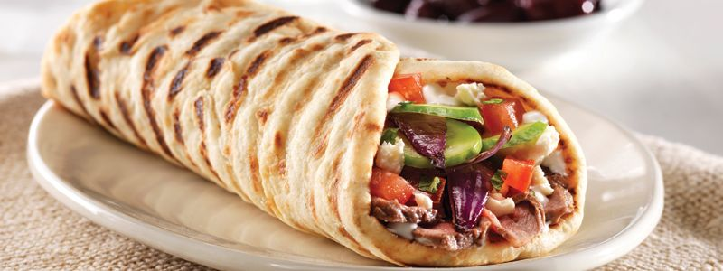 A Little Bite of History Pita bread originated in Egypt and the Middle East  centuries ago. It was introduced to the rest … | Food, Restaurant recipes,  Greek pita